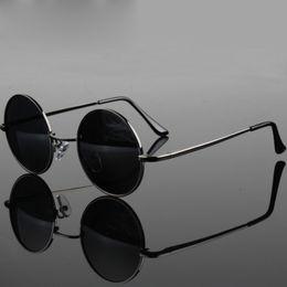 $enCountryForm.capitalKeyWord Australia - Retro Classic Vintage Round Polarized Sunglasses Men Sun Glasses Women Metal Frame Black lens Driving Fishing Eyewear UV400
