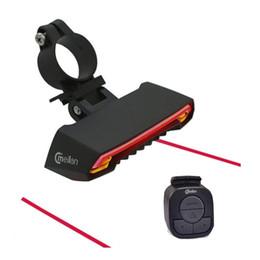 $enCountryForm.capitalKeyWord Australia - Smart Bike Light Meilan X5 Brake version Flash Light Taillight Laser Wireless Safety Rear Turn Signal Lamp Bicycle Accessories #24388