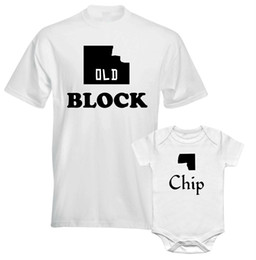Black Blocks Australia - Old Block Chip Funny Character Slogan Dad Father Son Daughter Matching T shirt Men Women Unisex Fashion tshirt Free Shipping black