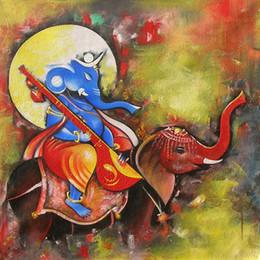 $enCountryForm.capitalKeyWord Australia - Cartoon Art The Elephant,Oil Painting Reproduction High Quality Giclee Print on Canvas Modern Home Art Decor 3796