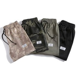 Wholesale cargo shorts big men for sale – plus size HCXY Summer Fashion Men s Cargo Shorts Men Camouflage Casual Shorts Full Cotton Army green Big side pockets M XL T200422