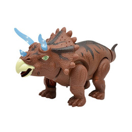 Electric Walking Dinosaur Toy With Action Figure Sound Laying Egg Kid Baby