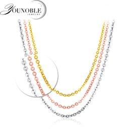 $enCountryForm.capitalKeyWord NZ - Genuine 18k White Yellow Gold Chain 18 Inches Au750 Rose Gold Necklace Pendant Wendding Party Gift For Women Wedding Y19052301