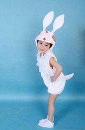 2019 Novo estilo crianças cosplay White Rabbit Dog e Cavalo série branca Meninos e meninas executam roupas