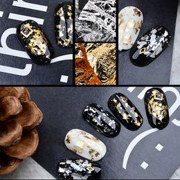 $enCountryForm.capitalKeyWord NZ - 1 PCS Mezzling Gold Silver Aluminum Nail Art Foil Sticker Paper 3d Glitter UV Gel Polish Design Nail Decoration Tools