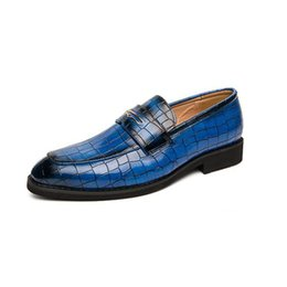 $enCountryForm.capitalKeyWord NZ - Fashion Leather Casual Shoes Men Comfortable Leisure Moccasins Cheap Dress Male Footwear Work Elegant Boy Oxford Shoes For Men