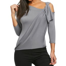 $enCountryForm.capitalKeyWord Australia - Tops For Womens Tops and Blouses 2018 Streetwear One Shoulder Three Quarter Sleeve Top Tunic Ladies Harajuku Tee Shirt Clothing