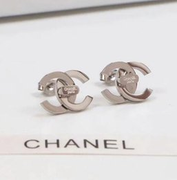 Double letter jewelry online shopping - Hot Luxury Double Letter Earrings Women Famous Designer Earrings Stud Party Wedding Jewelry Valentine s Day present Accessories