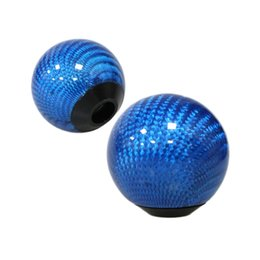 $enCountryForm.capitalKeyWord Australia - Blue Carbon fiber Gear Shift Knob for AT MT Shifter Lever 3 Aadapters switching adapters Cool Funny Automobile Acessories Auto Decoration