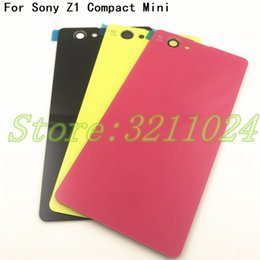Xperia Z1 Housing NZ - Original Rear Back Glass Door Battery Cover Case Housing For Sony Xperia Z1 Compact Z1 Mini D5503 M51W Glass With