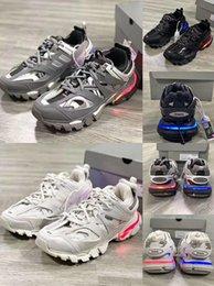 Venta al por mayor de Nueva pista de venta Paris Triple S 3.0 gris naranja zapatos casuales Tess S. Gomma Trek zapatos de hombre y zapatos de mujer 35-45