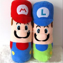 Discount anime hot pillow - Hot Sale 2 Style 50CM MARIO & LUIGI pillow Mario Bros Plush Doll Stuffed Toys For Baby Good Gifts