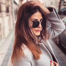 $enCountryForm.capitalKeyWord Australia - Wholesale-Luxury Designer Sunglasses For Women And Chain Frame And Temples Fashion Women Metal Chain Buckle 7 Colors