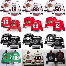 Чикаго Блэкхокс Джерси 88 Патрик Кейн 19 Toews 2 Дункан Кит 12 Алекс Дебринкэт 50 Кори Кроуфорд 00 Кларк Грисволд хоккейные майки на Распродаже