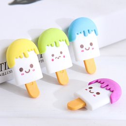 $enCountryForm.capitalKeyWord UK - 1Piece Cute Popsicle Erasers Creative Ice Cream Erasers Kawaii Rubber For Girls Kids Gift Correction Supplies Stationery