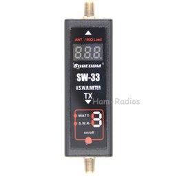Surecom SW-33 Mini PowerSWR Medidor VHF / UHF 100 MHz ~ 520 MHz Portátil Tester para Rádio Ham Two Way SW33 Antena Mini Tester Contador venda por atacado