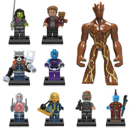 groot figure NZ - Guardians of the Galaxy Building Block Groot Star Lord Rocket Raccoon Gamora Yondu Nebula Ayesha Toy Drax the Destroyer Mini Action Figure
