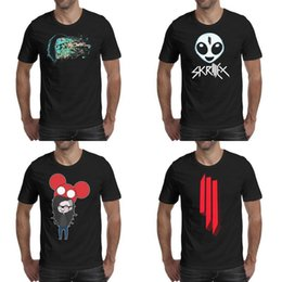 $enCountryForm.capitalKeyWord Australia - Recess Skrillex black mens tee shirts shirt design vintage designer friends casual t Deadmau5 & Painting Skrillex_0007_-19 Symbol Skull