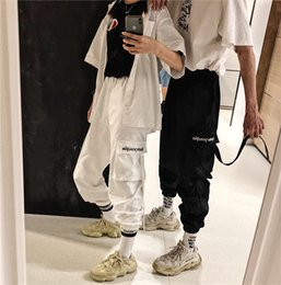 $enCountryForm.capitalKeyWord Australia - Women and mens designer sweatpants Ins Street hip hop trousers dancing hiphop pants loose BF leisure boot pocket overalls