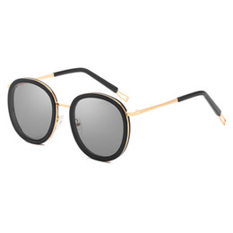 9eaad2735302d Women s Brand Designer Sunglasses Women s Fashion Round Frame Polarized Sunglasses  Top Quality Glasses Promotional Discount Lady Sunglasses