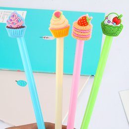 gift cake mixes Australia - 48pcs set Mixed Colors Cute Cartoon Cake Fruit Gel Pen Sign Pen Office School Stationery Promotion Gift Prize Pen