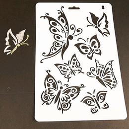 1 hoja de plantillas de capas de mariposas para paredes pintura álbum de recortes sellos álbum decorativo en relieve tarjetas de papel herramienta de artesanía bricolaje en venta