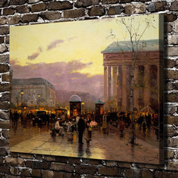 Canvas Print Paris Australia - Thomas Kinkade,Rainy Dusk Paris,1 Pieces Canvas Prints Wall Art Oil Painting Home Decor (Unframed Framed) 24x32