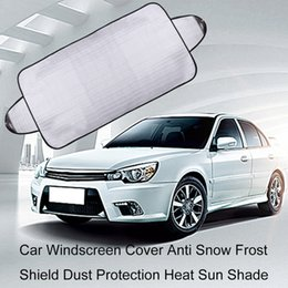 car windscreen cover Canada - 2pcs Car Windscreen Cover Anti Snow Frost Shield Dust Protection Heat Sun Shade
