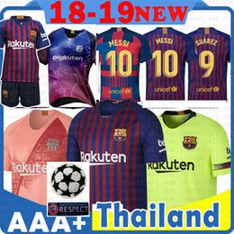 7244e4b18 10 Messi Soccer Jersey Barcelona 18 19 New Iniesta Suárez Dembele A.  INIESTA O. DEMBELE Coutinho MALCOM men women kids kits Football shirts