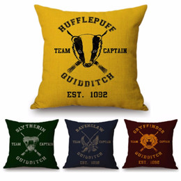 $enCountryForm.capitalKeyWord UK - Harry Potter Quidditch Games Team Captain Slytherin Hufflepuff Sofa Throw Pillow Cover Cotton Linen Patio Outdoor Cushion Cover