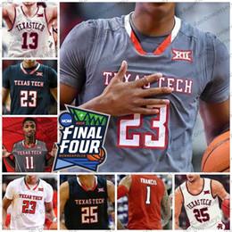 f23ccdffaeda Custom Texas Tech 2019 Final Four Basketball Jersey Any Name Number 25  Davide Moretti 23 Jarrett Culver 13 Matt Mooney 11 Tariq Owens S-4XL
