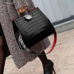 $enCountryForm.capitalKeyWord Australia - High Quality Sexy Boa Pattern Embossed Leather Lady Shoulder Crossbody Handbags Designer Women Messenger Totes Bag New