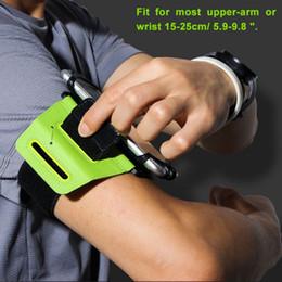 $enCountryForm.capitalKeyWord Australia - 4-6 Inch 180 Degree Rotatable Running Bag Belt Armband Touch Screen Cell Phone Case Holder Cycling Gym Arm Band Bag Men Women