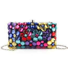 $enCountryForm.capitalKeyWord Australia - Elegant Ladies Mini Colorful Beading Evening Clutch Bag with Chain Shoulder Tote Bag Women's Handbags Purse Wallet for Wedding