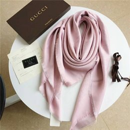 Scarf Square Cotton Australia - New ladies' gold and silver thread square scarf, top quality super soft, ladies' best choice, size 140*140