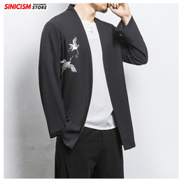 store clothes NZ - Sinicism Store Mens Print Oversize Loose Jacket Men Chinese Style Jackets 2020 Male Spring Fashion Traditional Coat 5XL Clothes