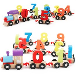 number blocks Canada - Colorful Alphabet Number Digital Wooden Train Building Block Children's Early Education Building Blocks Montessori Baby Toys