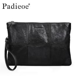 $enCountryForm.capitalKeyWord Canada - Men's Genuine Leather Clutch Famous Brand Designer Bag Large Capacity Wrist Purse High Quality Male Black handbags vintage messenger Best