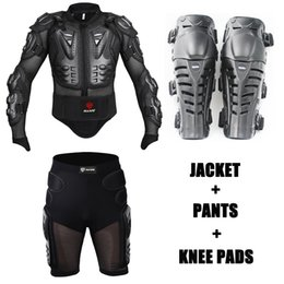 $enCountryForm.capitalKeyWord NZ - One Set Motocross Body Protection Motorcycle Jacket Spine Chest Protective Armor Moto Shorts Pants Motorbike Knee Pads Protector
