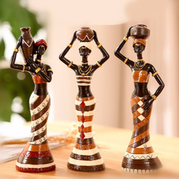 $enCountryForm.capitalKeyWord Australia - Elimelim 3 Pieces set Africa Home Home Ornaments And Decoration Doll Figurine Arts And Crafts
