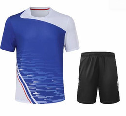 table tennis t shorts 2021 - Men's badminton T-shirts,collar clothing blazer quick-drying table tennis shirt jersey shorts,badminton wear sets suits