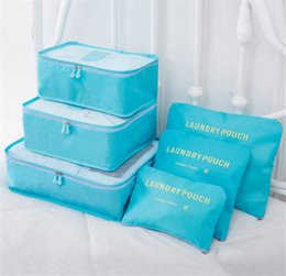 $enCountryForm.capitalKeyWord NZ - Travel Roll Up Bag 6 Set Travel Compression Packing Cubes