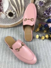 $enCountryForm.capitalKeyWord NZ - Quality Women Princetown Stamp Leather Print Slipper Shoes,Leather Sole,Horsebit detail,Size 35-41,Free Shipping