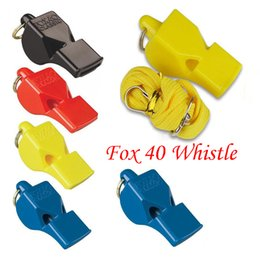 $enCountryForm.capitalKeyWord Australia - Free DHL 4 Color FOX 40 Football Whistle Soccer Basketball Referee Classic Whistle w Breakaway Lanyard Keyrings Keychain Accessories B240S F