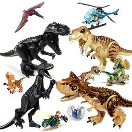 $enCountryForm.capitalKeyWord Australia - Dinosaur Building Blocks 3D Assembly ABS Plastic Educational Toys Dinosaur Kids companion Miniature Action Figures Jurassic Park Model Novel