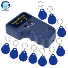 Rfid Card Copier Duplicator Australia - Handheld 125KHz RFID ID Card Writer Copier Duplicator Reader + 10pcs Writable EM4305 T5577 Keyfobs Tags Cards Hot Sale