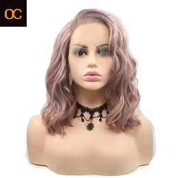 venda por atacado OC 931 fibra de Nova Chemical peruca Médio Cor Xaile personalização personalizado e longo cabelo encaracolado menina chapelaria parte dianteira do laço