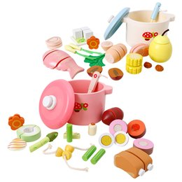 Kitchen Puzzle Australia - Children play house puzzle toy DIY Spring and Autumn Nutrition Soup Kitchen cooking pretend toy Funny Play food kitchen set toy