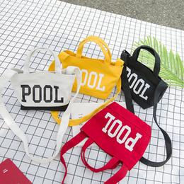 Bedding Sales Australia - POOL Monogram Bag Simplicity One Shoulder Package Portable Wrap White Word Handbag Pour Color Sen Girl Hot Sale 8 8jyb1