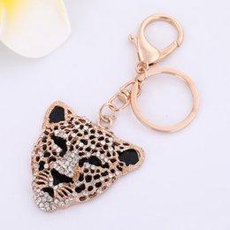 $enCountryForm.capitalKeyWord NZ - High Quality Wholesale Retail Fashion Custom Metal Key Chain high quality Leopard Animal Keychain For Men